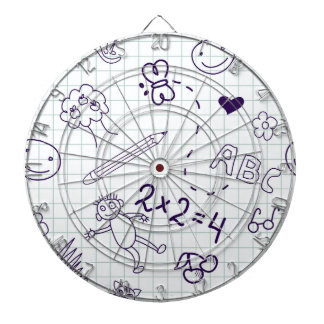 Children's Drawing Pattern Dartboard
