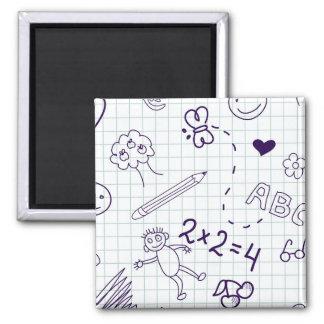 Children's Drawing Pattern Magnet