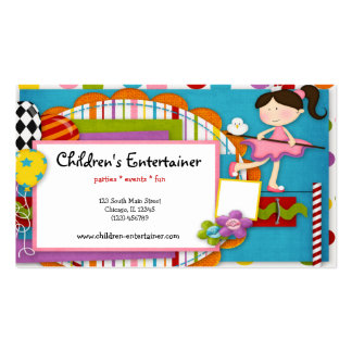 Children's Entertainer Business Cards