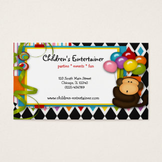 Children's Entertainer Business Card