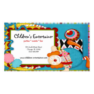 Children's Entertainer Business Card Template