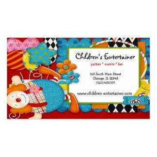 Children's Entertainer Business Card Template