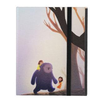 "Children's Fantasy Monster Art ""Right Friends"" iPad Case"