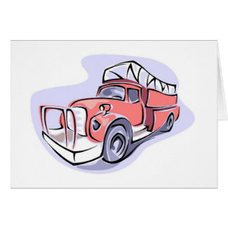 Children's Fire Truck Birthday Party Thank You Card