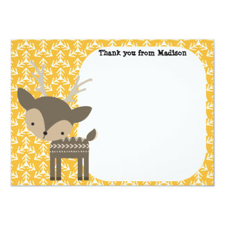 Children's Flat Panel Thank You Cards Brown Deer