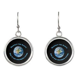 Childrens Future Respect Planet Earth Earrings