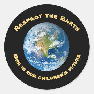 Childrens Future Respect Planet Earth Sticker