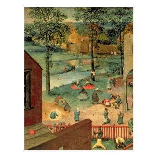 Children's Games , 1560 Postcard