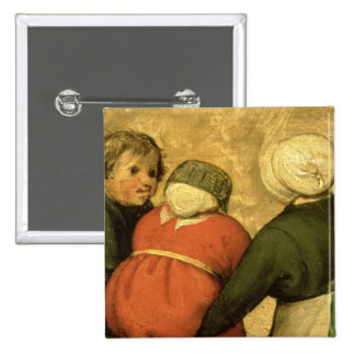 Children's Games : detail of a child 15 Cm Square Badge
