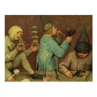 Children's Games : detail of left-hand Postcard