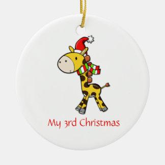 Children's Giraffe Christmas Ornament
