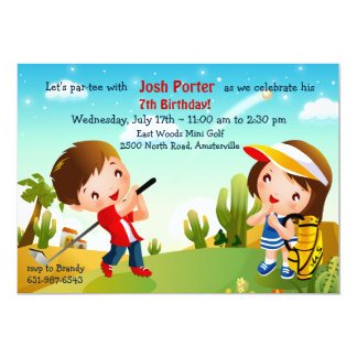 Children's Golf Invitation