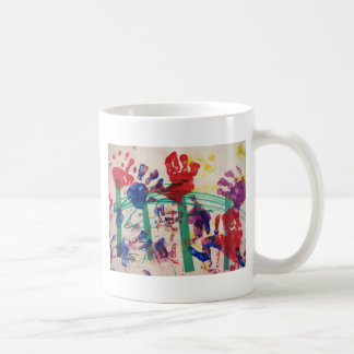 Children's handprint Garden Mug