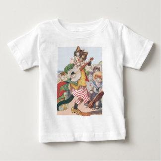Childrens Happy Funny Cat Folk T Shirt