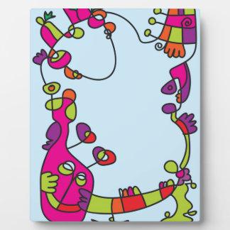 childrens illustration happy naive cute friend plaque