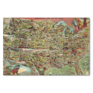 Children's Map of the United States Tissue Paper