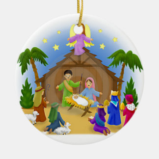 Children's Nativity  mug key chain necklace phone Ceramic Ornament