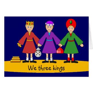 Children's Nativity - We three kings Card