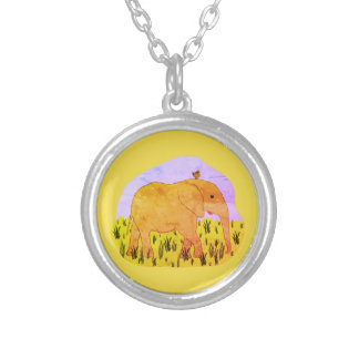 Childrens Necklace Elephants Birds Friendship