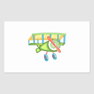 CHILDRENS PLANE RECTANGLE STICKERS