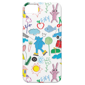 Children's Play Pattern - Elephant, Playtime iPhone 5 Covers