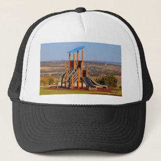 Children's playground trucker hat