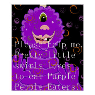 Children's Purple People Eater Poster.