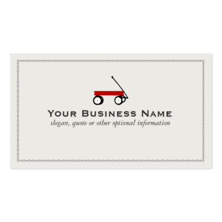 Children's Red Wagon Business Cards