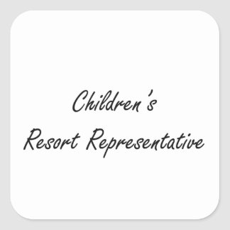 Children's Resort Representative Artistic Job Desi Square Sticker