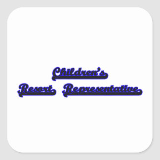 Children's Resort Representative Classic Job Desig Square Sticker