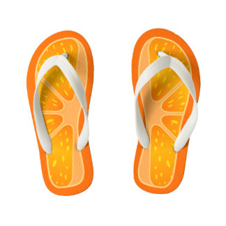 Children's Size Cute and Funny Orange Slice Thongs