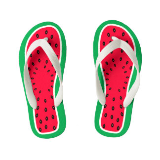 Children's Size Funny Watermelon Slice Look Thongs