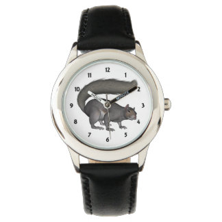 Childrens Squizzy Squirrel Numbered Watch