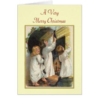 Children's Stockings Christmas Card