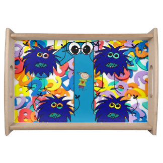 childrens sunglass white  serving tray