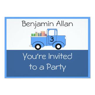 Children's Truck Birthday Invitation