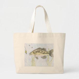 Children's Winning Artwork: bass Jumbo Tote Bag