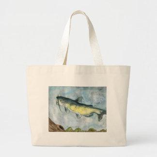 Children's Winning Artwork: Catfish Jumbo Tote Bag