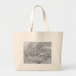 Children's Winning Artwork: channel catfish. Jumbo Tote Bag