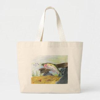 Children's Winning Artwork: cutthroat trout. Jumbo Tote Bag