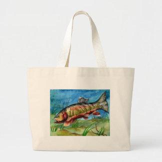 Children's Winning Artwork: golden trout Tote Bags
