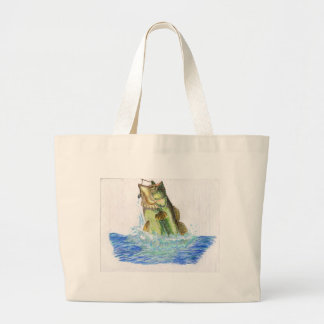 Children's Winning Artwork: largemouth bass Jumbo Tote Bag