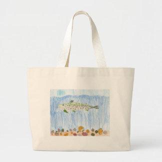 Children's Winning Artwork: lohonton cutthroat tro Tote Bags