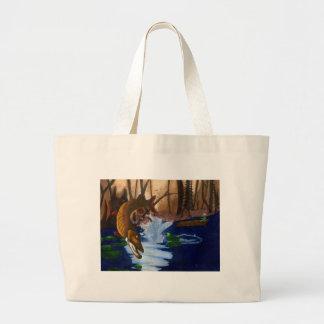 Children's Winning Artwork: muskie Jumbo Tote Bag