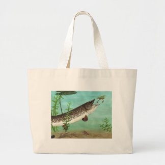 Children's Winning Artwork: northern pike Large Tote Bag