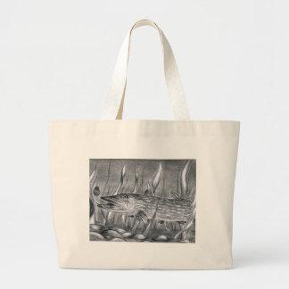 Children's Winning Artwork: Northern Pike Jumbo Tote Bag