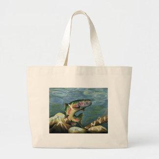 Children's Winning Artwork: rainbow trout Jumbo Tote Bag