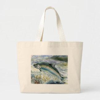 Children's Winning Artwork: salmon Jumbo Tote Bag