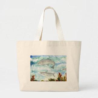 Children's Winning Artwork: salmon Tote Bags