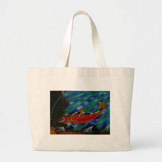 Children's Winning Artwork: steelhead trout Jumbo Tote Bag
